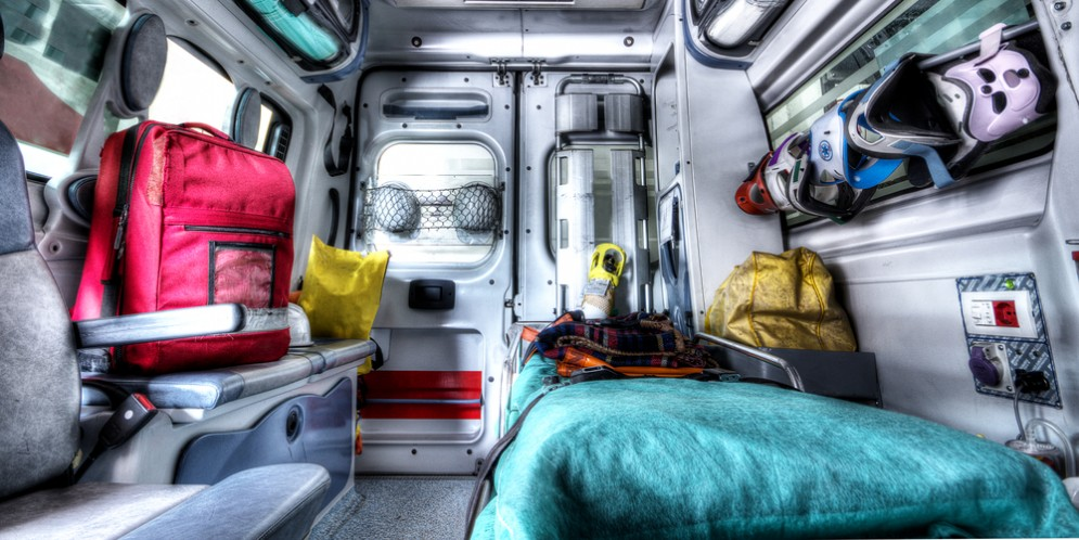 Interno di ambulanza