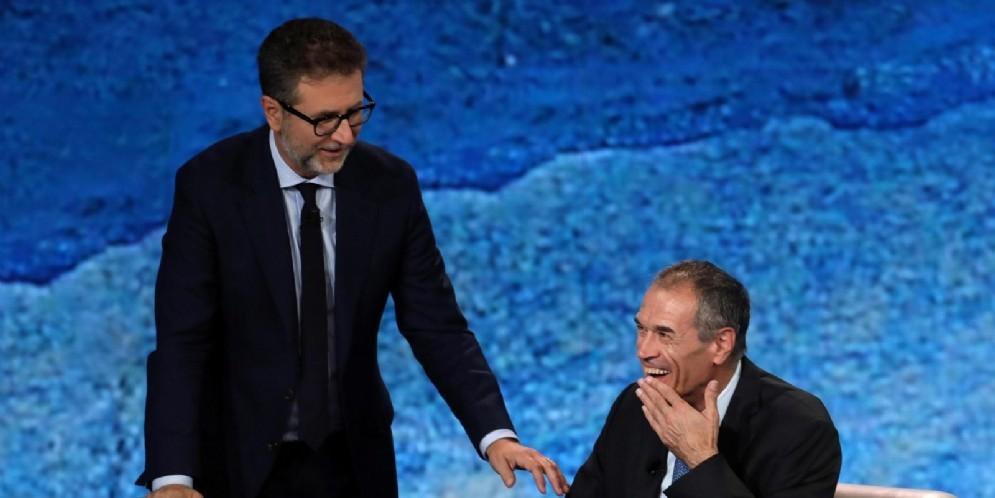 L'ex commissario alla spending review Carlo Cottarelli ospite di Fabio Fazio a «Che Tempo Che Fa»