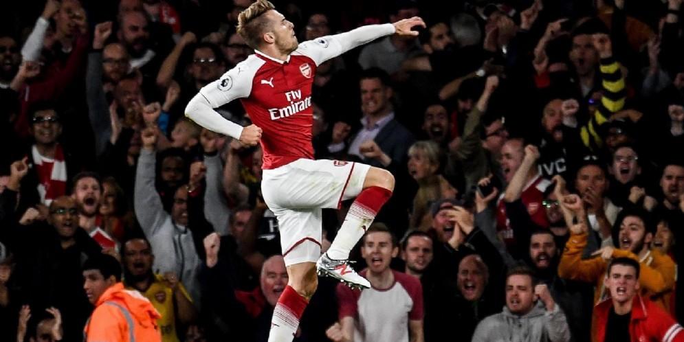 Il centrocampista dell'Arsenal Aaron Ramsey