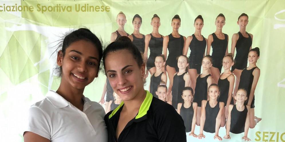 Meghana (a sinistra): dall'India a Udine per allenarsi all'Asu