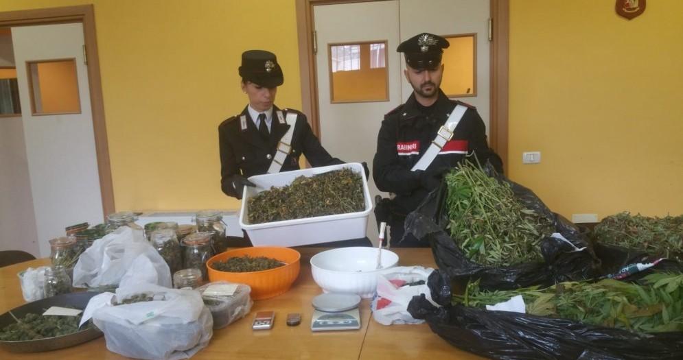 Fugge dai carabinieri: droga express fermato con 8 kg di marijuana nel furgone