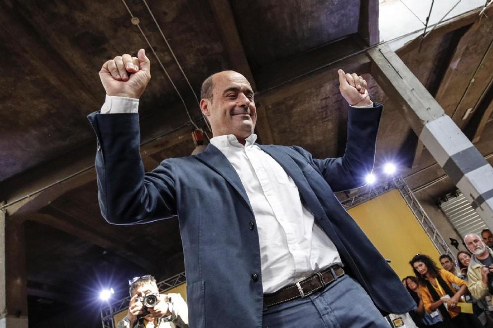 Nicola Zingaretti alla ex Dogana durante l'evento 'Piazza grande'
