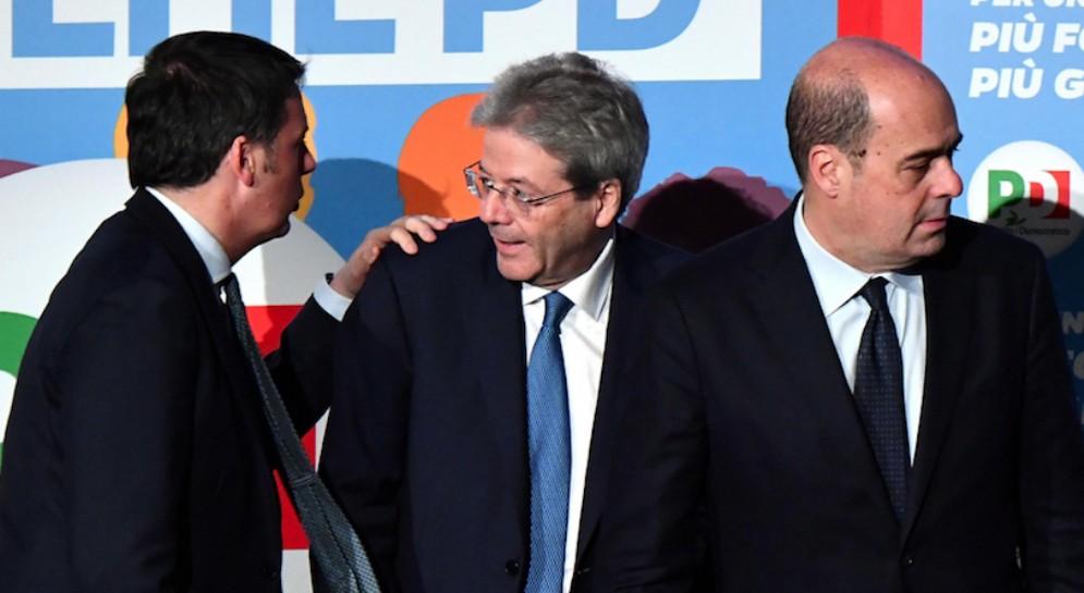 Renzi, Gentiloni e Zingaretti