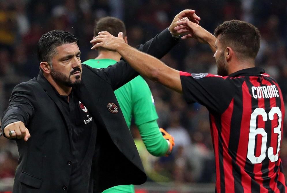 Mister Gattuso abbraccia Cutrone