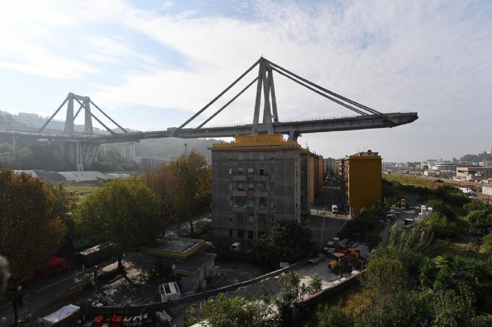 Il ponte Morandi oggi, 18 ottobre 2018