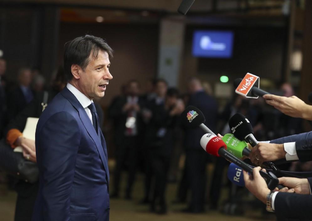 Il premier Conte a Bruxelles per il vertice del Consiglio europeo