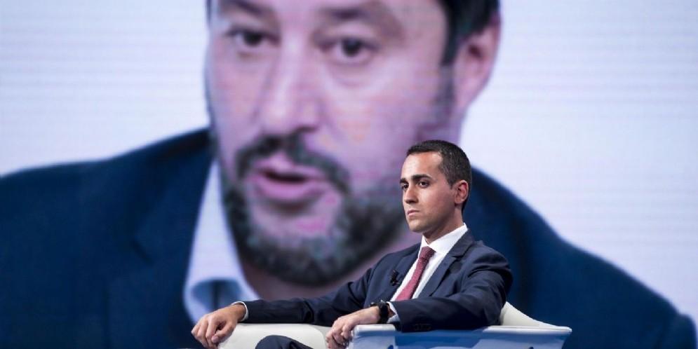 Il vicepremier e ministro del Lavoro e dello Sviluppo Economico Luigi Di Maio a Porta a Porta
