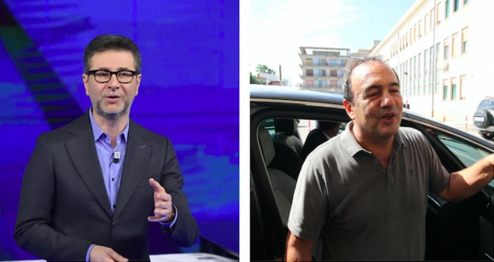 Fabio Fazio e il sindaco di Riace Mimmo Lucano