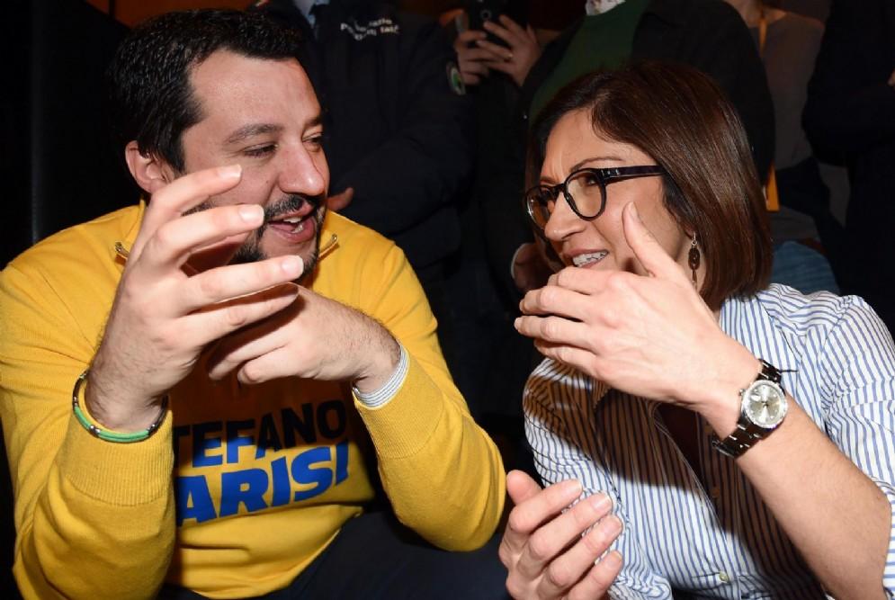 Matteo Salvini e Mariastella Gelmini