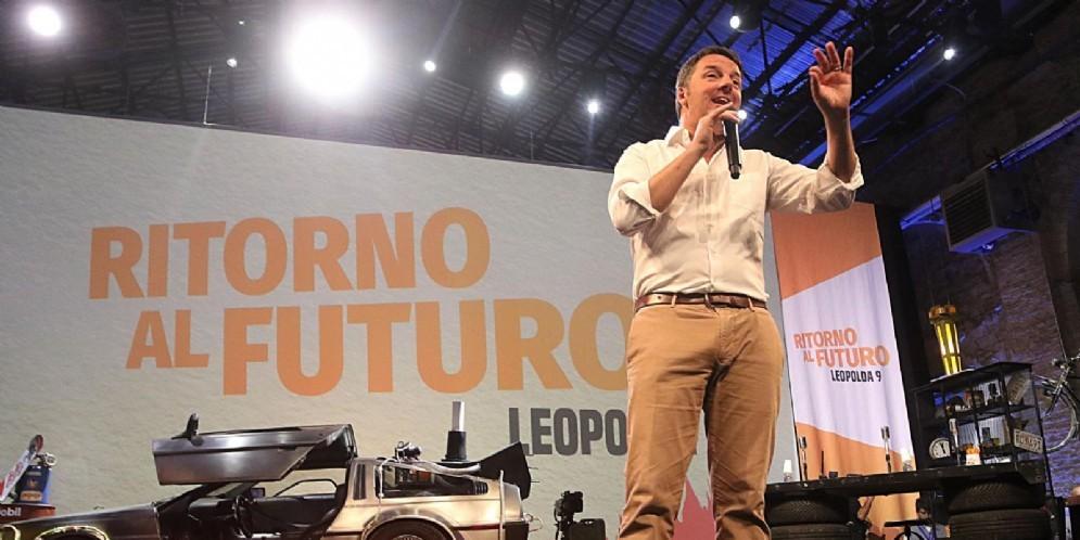 Matteo Renzi durante la manifestazione della Leopolda 9