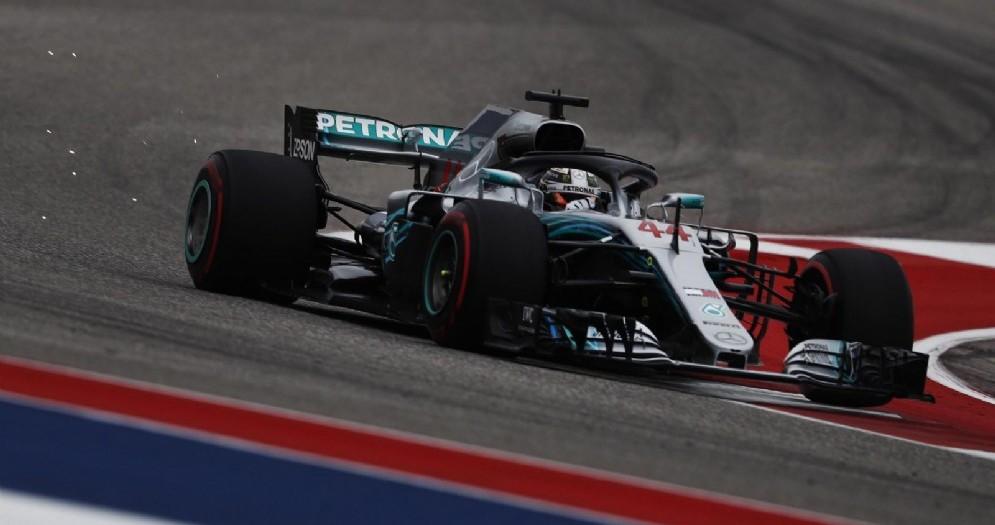 Lewis Hamilton, in azione nel Circuito delle Americhe