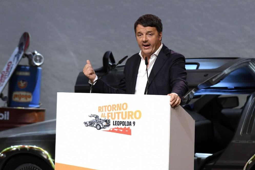 Matteo Renzi durante il discorso di chiusura della Leopolda 9