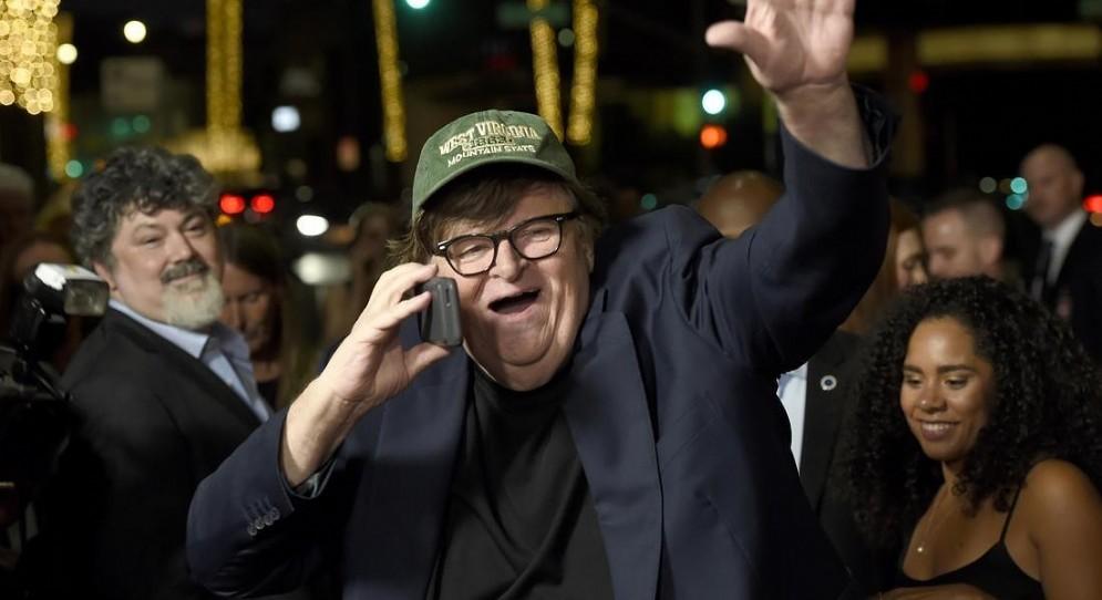Il regista americano, Michael Moore