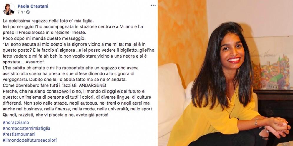 «Io non voglio stare vicino a una negra»: gesto razzista sul treno diretto a Trieste