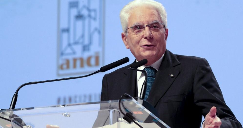 Il presidente della Repubblica Sergio Mattarella interviene all'assemblea dell'Anci