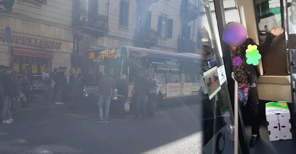 Autista e passeggera litigano per delle buste di pesce puzzolente: la donna lo chiude fuori dal bus