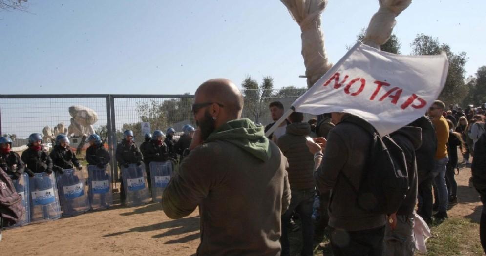 Proteste No Tap in Puglia, 28 ottobre 2017