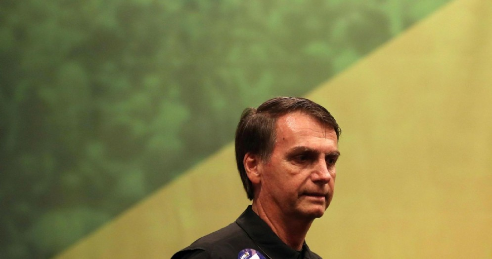 Il candidato favorito alla presidenza del Brasile, Jair Bolsonaro
