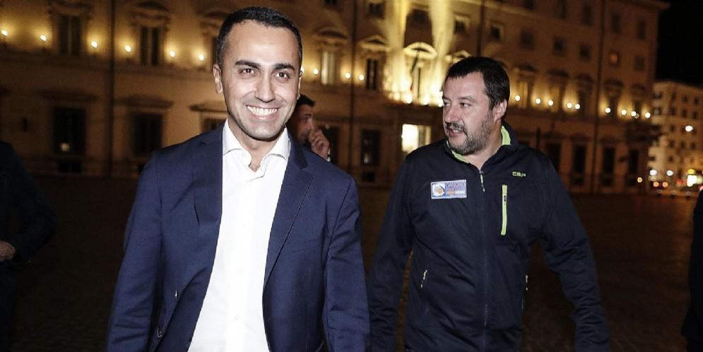 Luigi Di Maio, vicepremier e ministro del Lavoro e dello Sviluppo Economico, e Matteo Salvini, vicepremier e ministro dell'Interno