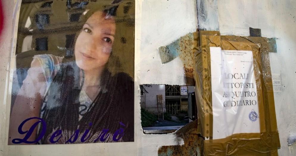 Polizia scientifica dove è stato ritrovato il corpo di Desiree, Roma, 26 ottobre 2018