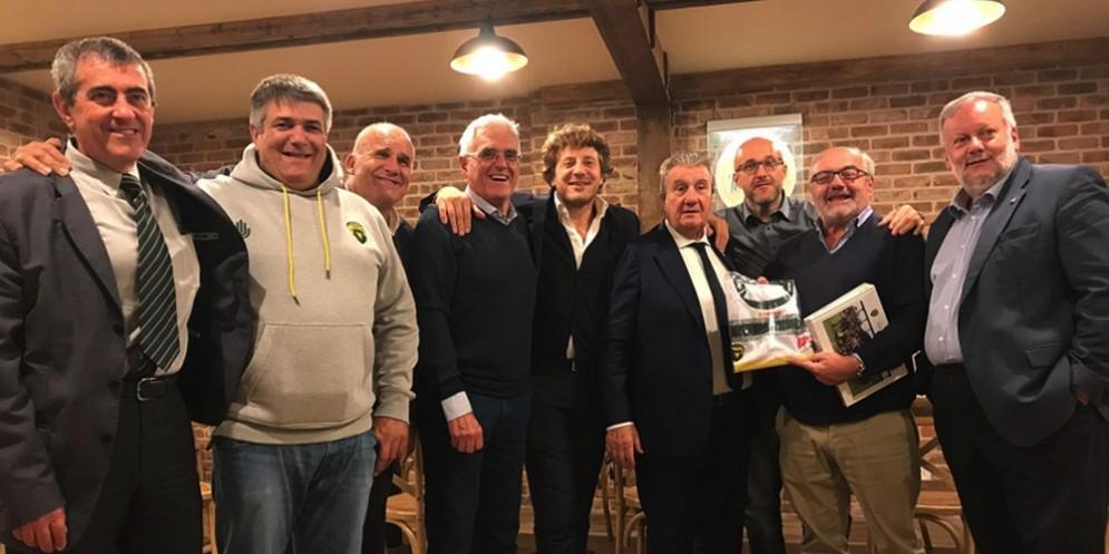 Dirigenti e Presidente BRC con Gavazzi e Vaccari
