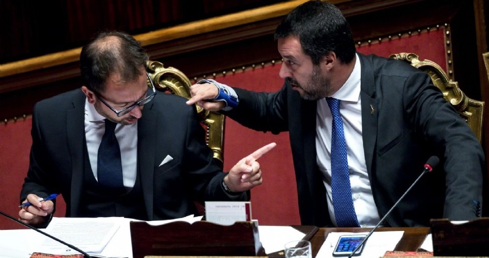 Matteo Salvini con il ministro della Giustizia Alfonso Bonafede