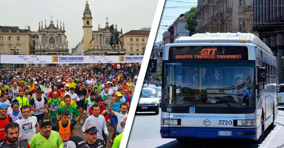 Domenica si corre la Turin Marathon, deviate le linee dei bus: tutte le informazioni