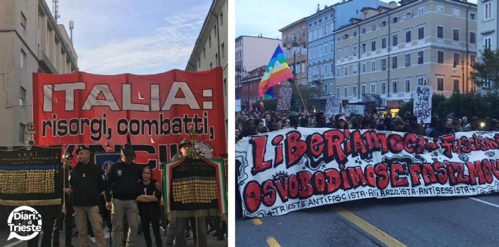 Trieste divisa nel giorno di San Giusto: migliaia le persone in strada