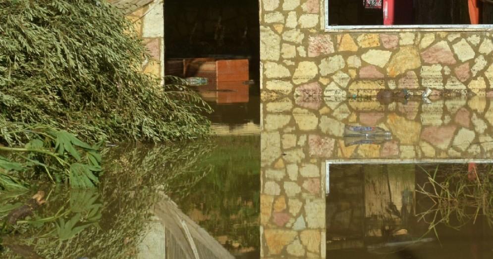 L'area a Casteldaccia, in provincia di Palermo, dove è esondato il fiume Milicia