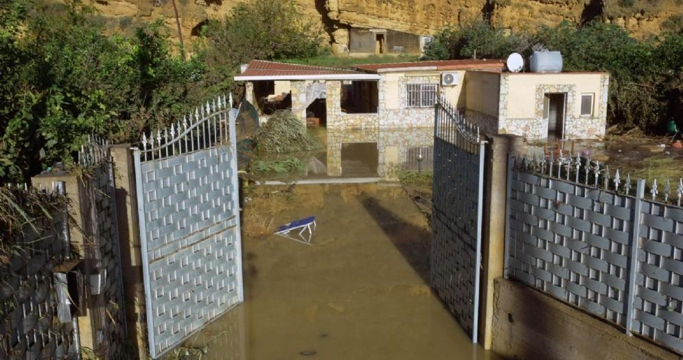 La villa dove nove persone, tra cui donne e bambini, sono morti a causa dell'esondazione del fiume Milicia in contrada Cavallaro a Casteldaccia (Palermo)