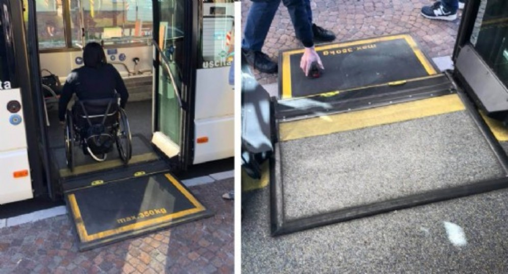 Udine, attivate le prime 4 fermate dei bus per disabili