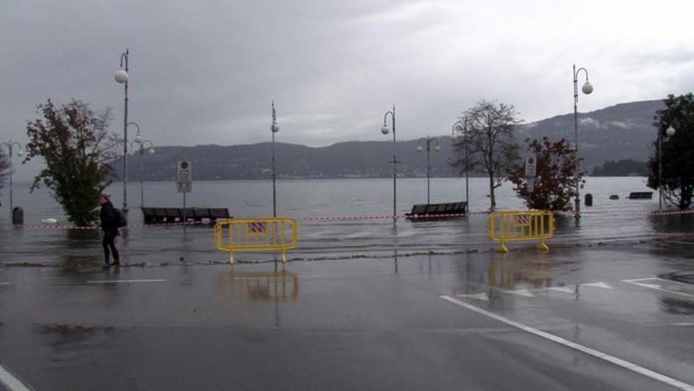 Esondato il Lago Maggiore a Pallanza