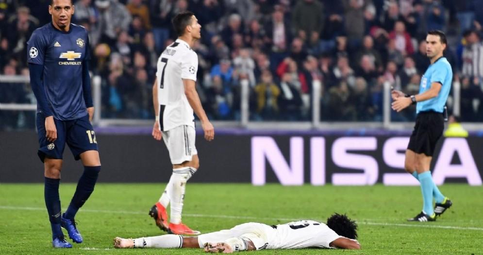 La delusione di Cristiano Ronaldo e Cuadrado dopo Juventus-Manchester Utd 1-2