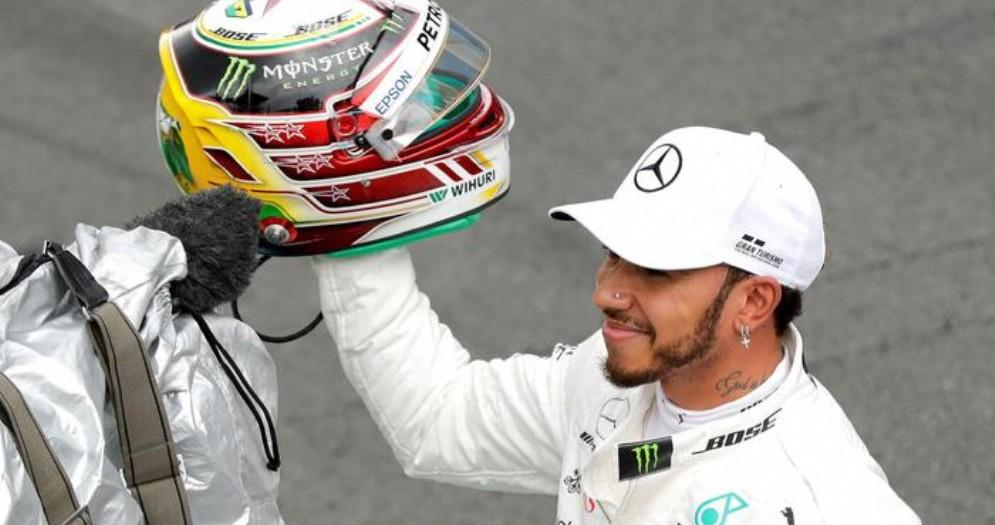 Lewis Hamilton, vincitore del GP del Brasile 2018