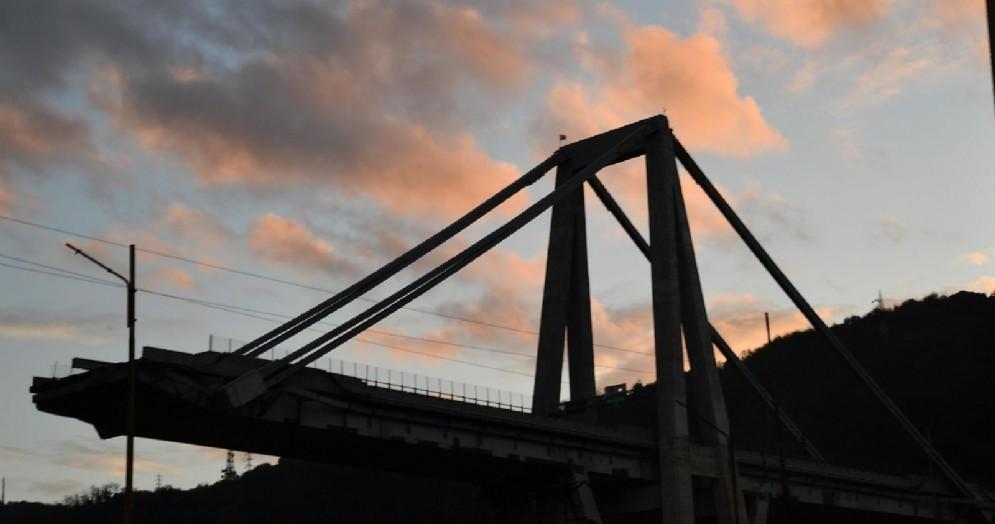 Il moncone di ponente di ponte Morandi