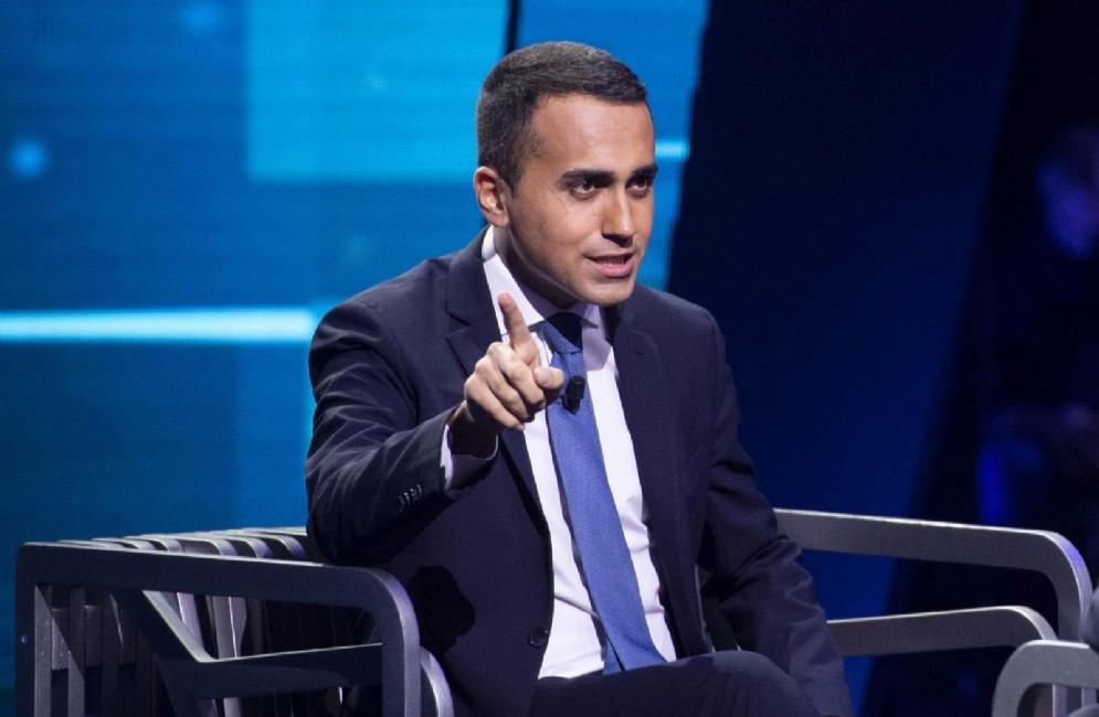 Luigi Di Maio a Non è l'Arena, programma tv di Massimo Giletti ANSA/CLAUDIO PERI