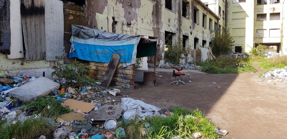 L'interno dell'ex fabbrica Penicillina di Roma