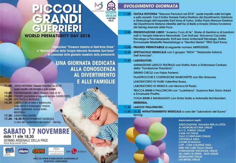 Asl di Biella sabato protagonista per la Giornata mondiale del neonato prematuro