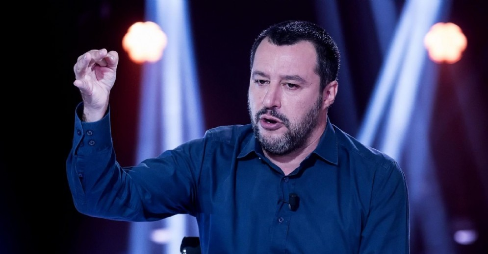Il ministro dell'Interno e vicepremier Matteo Salvini durante la trasmissione Nemo