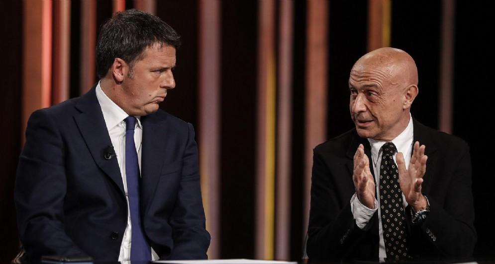 L'ex segretario del Partito Democratico Matteo Renzi e l'ex ministro dell'Interno, Marco Minniti