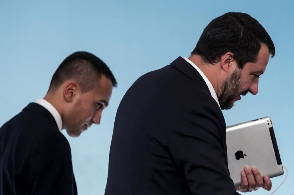 I due vicepremier Luigi Di Maio e Matteo Salvini