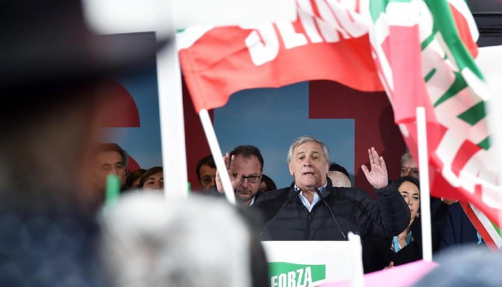 Il presidente del Parlamento Europeo e vice presidente di Forza Italia Antonio Tajani