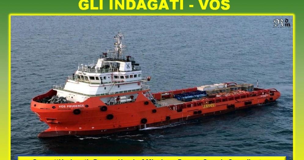 Una slide relativa all'indagine di Guardia di Finanza e Polizia, coordinata dalla Procura di Catania, che ha fatto scattare il sequestro preventivo dell'Aquarius