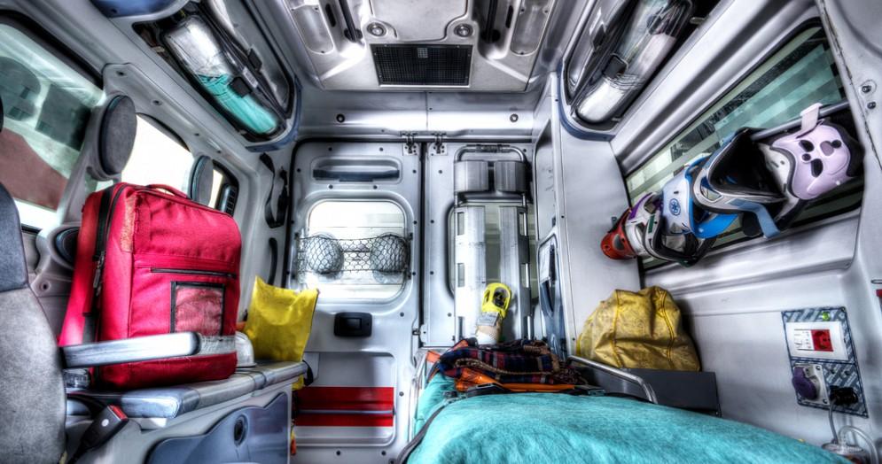 Interno di ambulanza - Immagine di repertorio