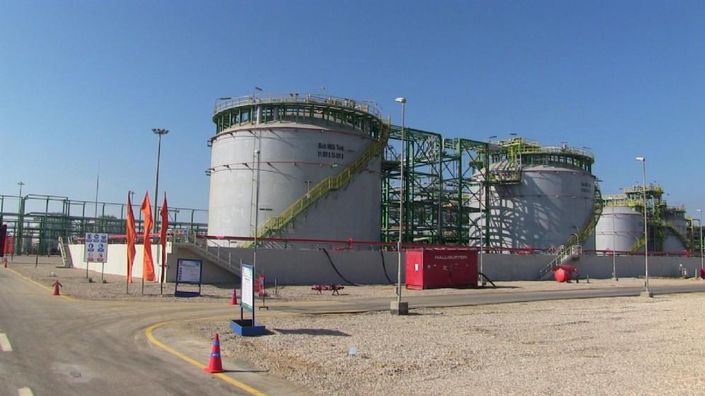 L'impianto Eni per il trattamento a terra del giacimento di gas super-giant Zohr scoperto in acque egiziane