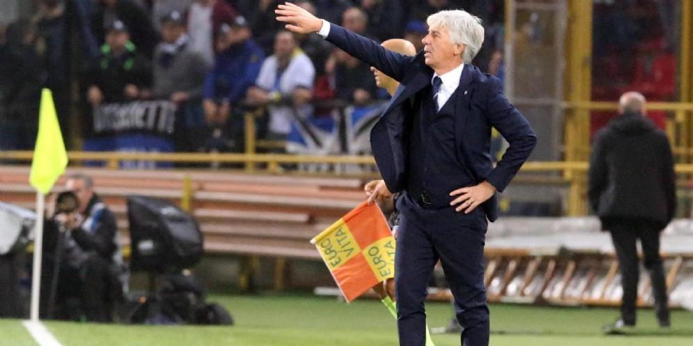 L'allenatore dell'Atalanta Gian Piero Gasperini
