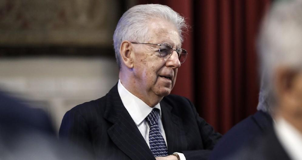 L'ex presidente del Consiglio, Mario Monti, alla Camera dei deputati