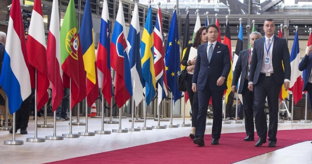 Il presidente del Consiglio, Giuseppe Conte, arriva a Bruxelles