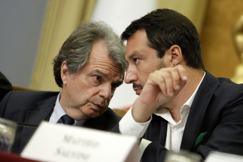 Renato Brunetta con Matteo Salvini