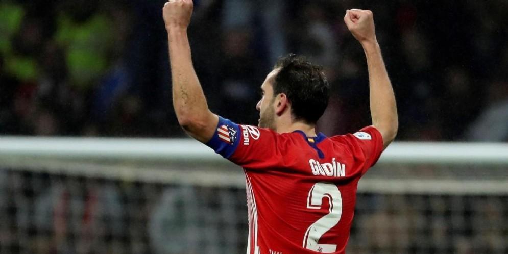 Il difensore dell'Atletico Madrid Diego Godin